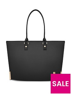 moshi-aria-ladies-lightweight-slim-tote-slate-gray