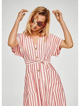 mango-linen-stripe-dress