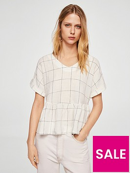 mango-check-blouse