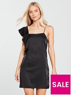 mango-frill-asymmetric-dress