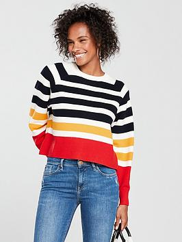 mango-stripe-jumper-multi