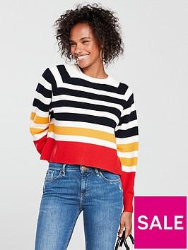 mango-stripe-jumper-multi