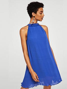 mango-plisse-mini-dress-blue