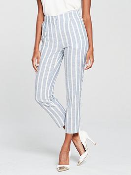 mango-linen-stripe-trousersnbsp-bluenbsp