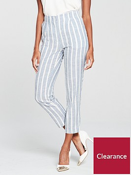 mango-linen-stripe-trousersnbsp-bluenbsp