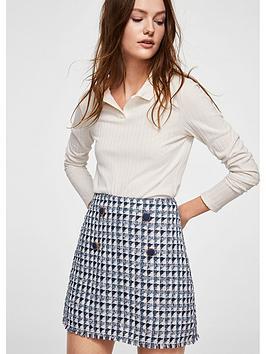 mango-boucle-skirt
