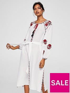 mango-embroidered-tassel-dress