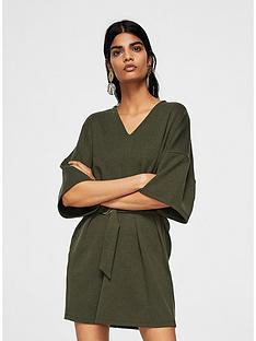 mango-kaftan-belted-dress-khaki