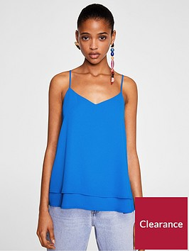 mango-double-layer-tie-back-cami-blue