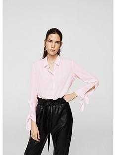 mango-button-up-tie-cuff-blouse-pink