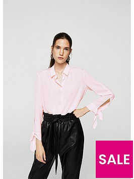 mango-button-up-tie-cuff-blouse-pink