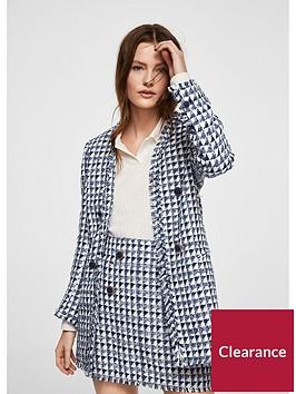 mango-boucle-longline-blazer