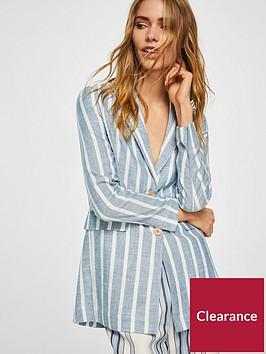 mango-linen-stripe-blazer-blue
