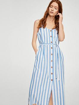 mango-stripe-midi-dress