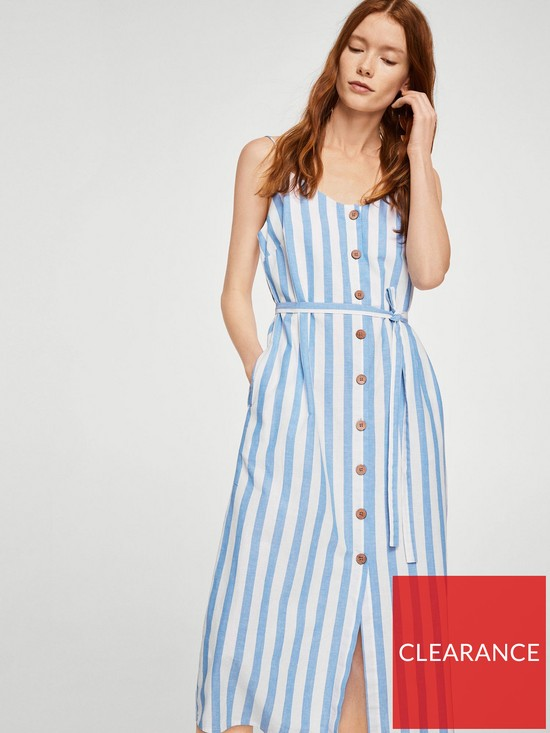 Mango Stripe Midi Dress  b53d3bc3c