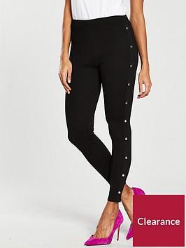 v-by-very-side-popper-detail-legging-black