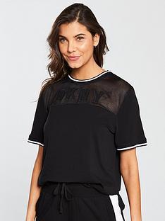 dkny-logo-short-sleeve-mesh-t-shirt-black