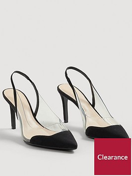 mango-gardenia-clear-detail-court-shoe-black