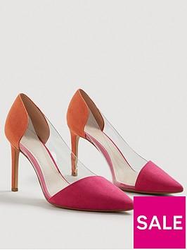 mango-alegra-clear-detail-court-shoe-orange
