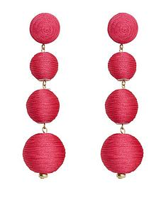 mango-pom-pom-earrings-fuchsia