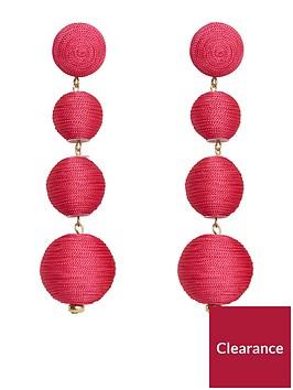mango-pom-pom-earrings-fuchsia