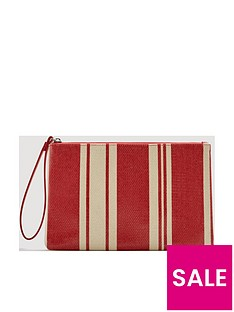 mango-stripe-cosmetic-bag-red
