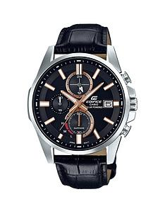 casio-casio-edifice-saphire-crystal-black-and-rose-gold-multi-dial-black-leather-strap-mens-watch