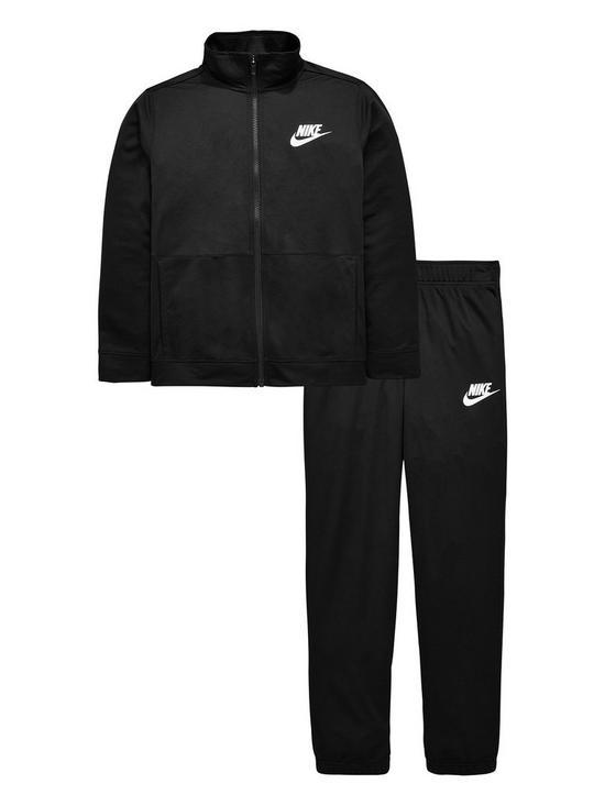 258956145353 Nike Sportswear Older Boys Poly Tracksuit - Black