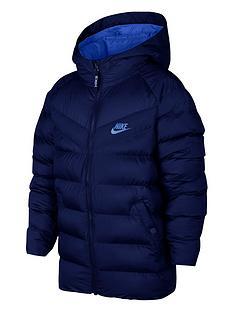 nike-nike-older-boys-nswnbspfilled-hooded-jacket--nbspnavy