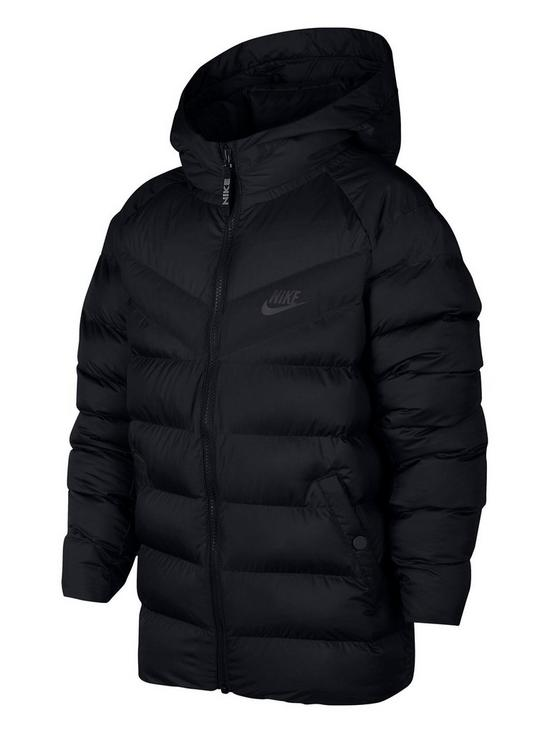 a8e0351794cb Nike Nike Older Boys NSW Filled Hooded Jacket - Black
