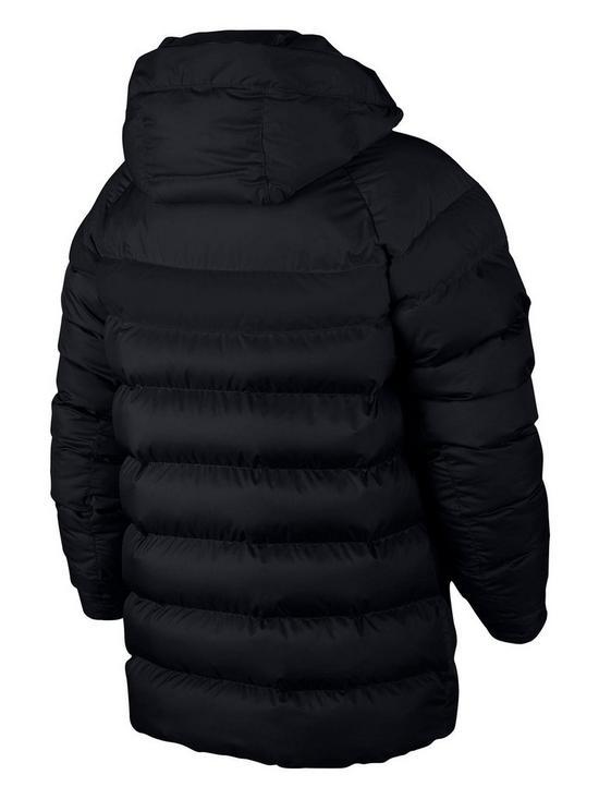 59ce8864e952 Nike Nike Older Boys NSW Filled Hooded Jacket - Black