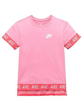 nike-older-girls-hi-low-tape-tee-pinknbsp