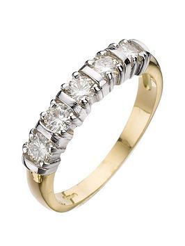 moissanite-moissanite-18-carat-yellow-gold-50-point-5-stone-eternity-ring