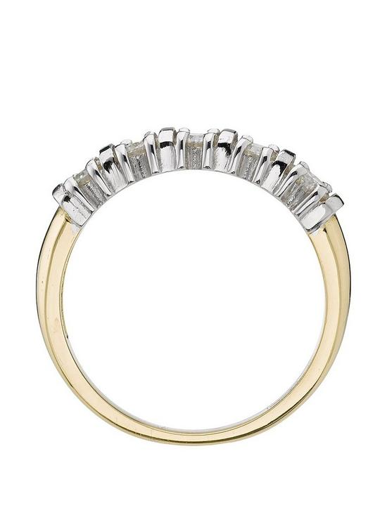 18 Carat Yellow Gold 50 Point 5 Stone Eternity Ring