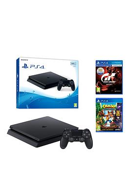 playstation-4-slimnbsp500gbnbspblack-console-with-gran-turismo-sport-and-crash-bandicoot-nsane-trilogy