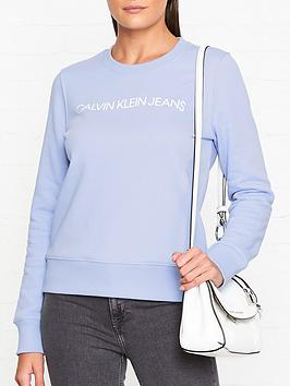 calvin-klein-institutional-logo-regular-crew-neck-sweatshirt-blue