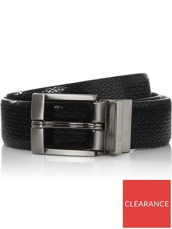 386d7efcf900 Ted Baker Men s Inka Reversible Leather Belt - Black