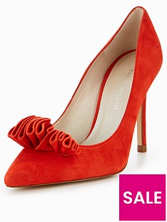 karen-millen-frill-court-shoe-red