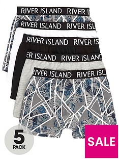 river-island-boys-grey-floral-geo-trunks-multipack
