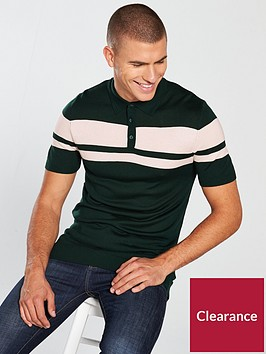 river-island-knitted-block-muscle-fit-polo