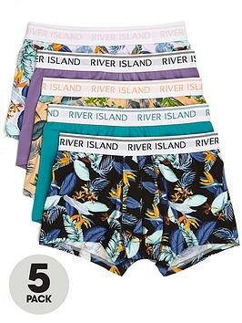 river-island-pink-florals-5pk-trunk