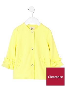 river-island-mini-girls-yellow-frill-cuff-button-up-jacket