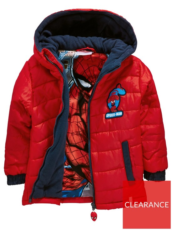 0fa048325 Spiderman Spider Man Padded Boys Coat