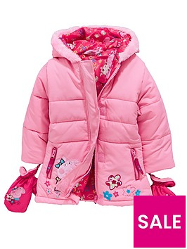 peppa-pig-girls-coat-with-mittens-pink