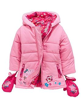 peppa-pig-girls-coat-with-mittens