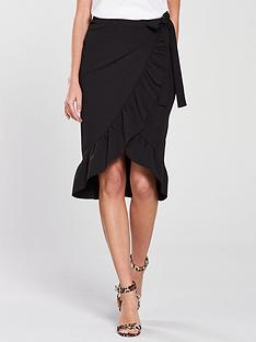 v-by-very-wrap-over-frill-midi-skirt-black