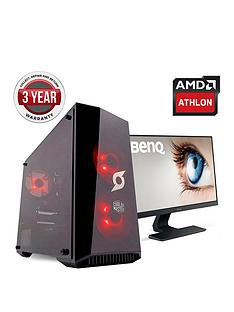 zoostorm-stormforce-onyx-amd-a10nbspprocessornbsp8gbnbspramnbsp2tbnbsphard-drive-gaming-pc-with-238-inch-benq-full-hd-monitor