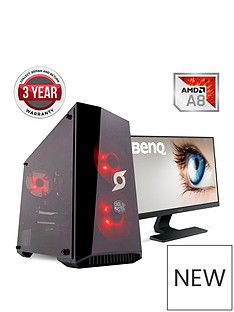 zoostorm-stormforce-onyx-amd-a8-processornbsp8gbnbspramnbsp1tbnbsphard-drive-gaming-pc-withnbsp236-inch-benq-monitor