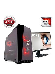zoostorm-stormforce-onyx-amd-a8-processornbsp8gbnbspramnbsp1tbnbsphard-drive-gaming-pc-withnbsp24-inch-benq-monitornbsp