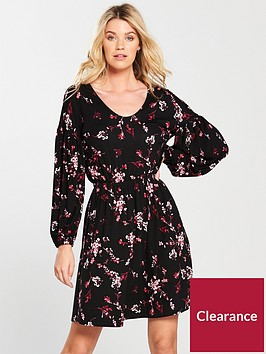 v-by-very-bishop-sleeve-day-dress-print